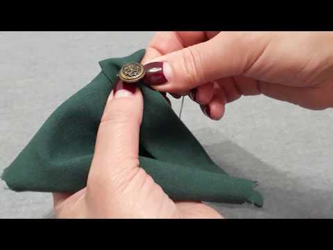 Как сделать пуговицу на ножке