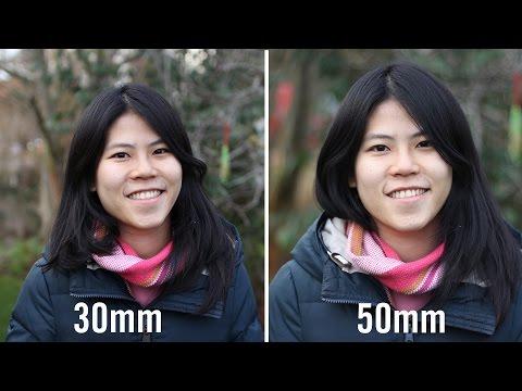 30mm vs 50mm Prime Lenses Comparison For Full Frame And APS-C Cameras   Video DSLR Tutorial