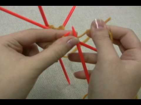How to Change From a Circular Knitting Needle to a Double