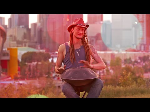 Midnite in the Western Oasis | Calgary Stampede | HandPan @ a Rodeo! | Daniel Waples [HD]