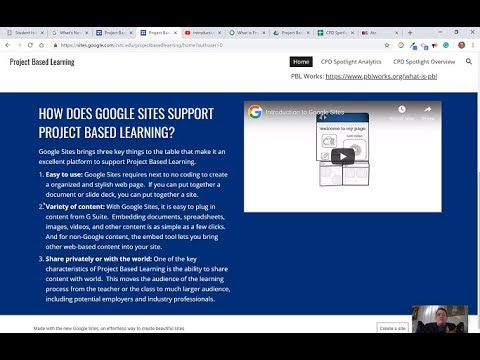 Project Based Learning with Google Sites