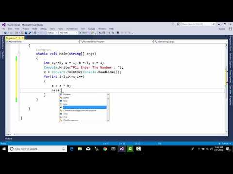 Console Application Number Series 6,27,128...... with C#