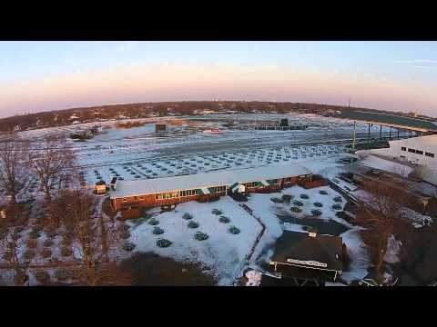 Monmouth Park Horse Racetrack, NJ - From A Drone - In Winter
