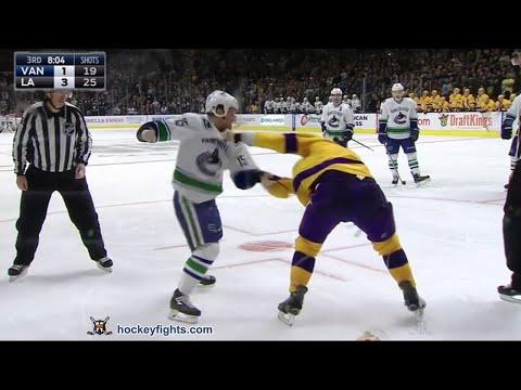 Derek Dorsett vs Brayden McNabb Mar 7, 2016