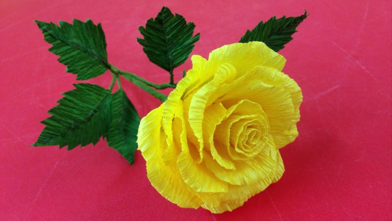 Crepe paper flower making videos vatozozdevelopment flower making of crepe paper crepe mightylinksfo