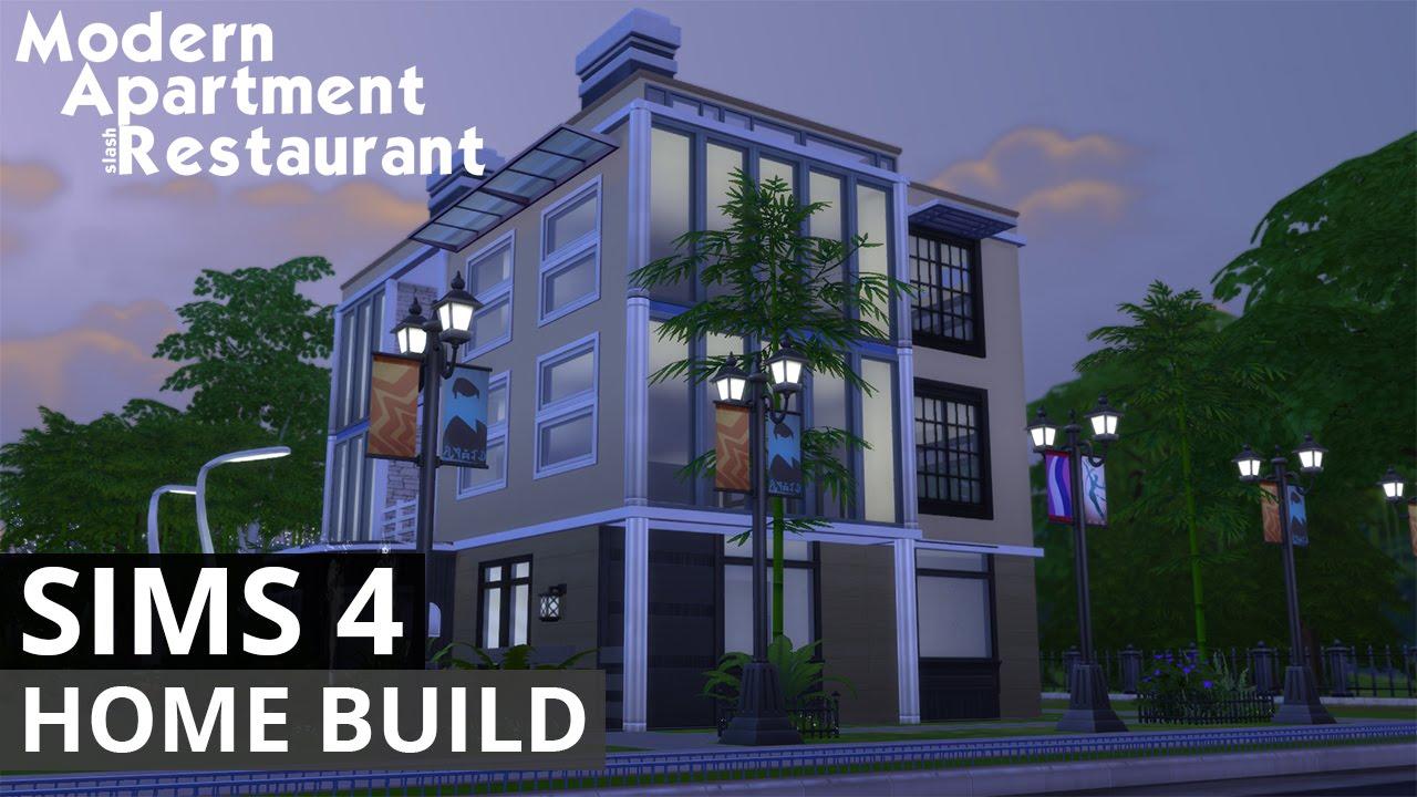 The Sims  House Building Modern ApartmentRestaurant YouTube - 4 apartment house