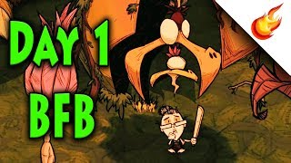 How To Summon BFB [Big Friendly Bird] On Day 1 - Don't Starve