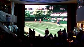 Big Screen Wii Tennis on Cruise Ship
