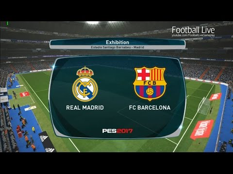 PES 2017 | Real Madrid vs FC Barcelona | Full Match & Hat tricks Ronaldo and Neymar | Gameplay PC