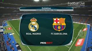 PES 2017 | El Clasico - Real Madrid vs FC Barcelona | Full Match & Hat tricks Ronaldo and Neymar