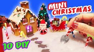 10 DIY MINIATURE CHRISTMAS - How to make a miniature WINTER ZEN GARDEN   aPasos Crafts DIY