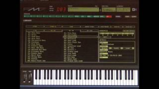 Yamaha DX7 Emulator Software - FM7 - Bank 2 Patch - 083   Square Lead