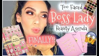 What?! too faced boss lady beauty agenda | review & swatches