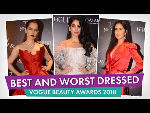 Janhvi Kapoor, Kangana Ranaut, Katrina Kaif : Best and worst dressed at The Vogue Beauty Awards 2018 thumbnail