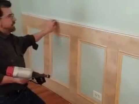 Best diy recessed wainscoting installation part 2 of 3 for Wood floor 90 degree turn