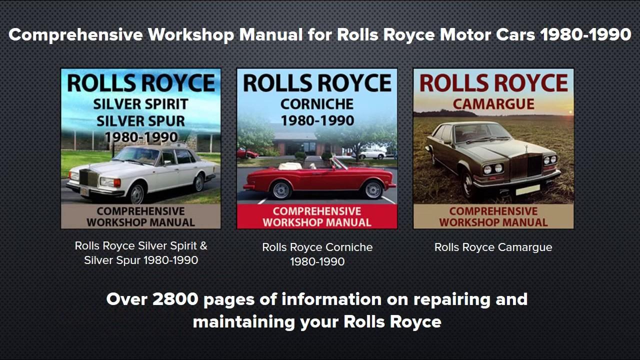 rolls royce camargue 1980 1986 models workshop manual car manuals direct [ 1280 x 720 Pixel ]