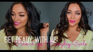 Get Ready With Me: Pink Lips + Everyday Curls Thumbnail