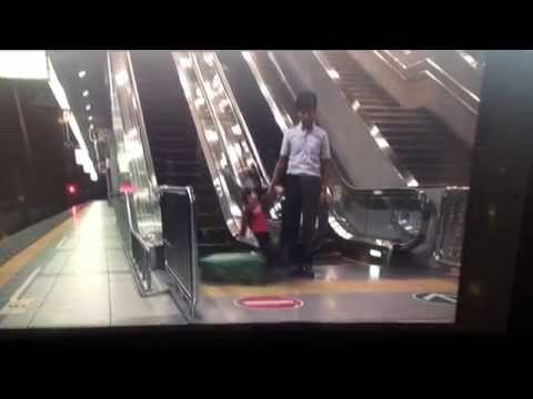 Preposterous escalator safety video in Osaka airport