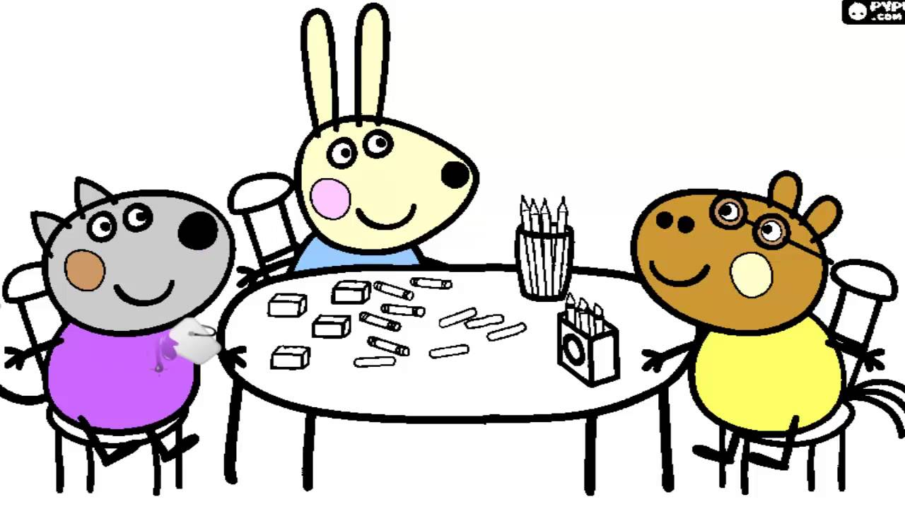 Colorindo Os Amigos Da Peppa Jogo De Pintar Youtube