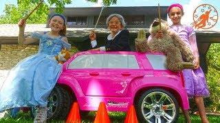 Little Princesses 16 -The Big Magic Princess Pink Carriage and Car Race - New Sky Kids