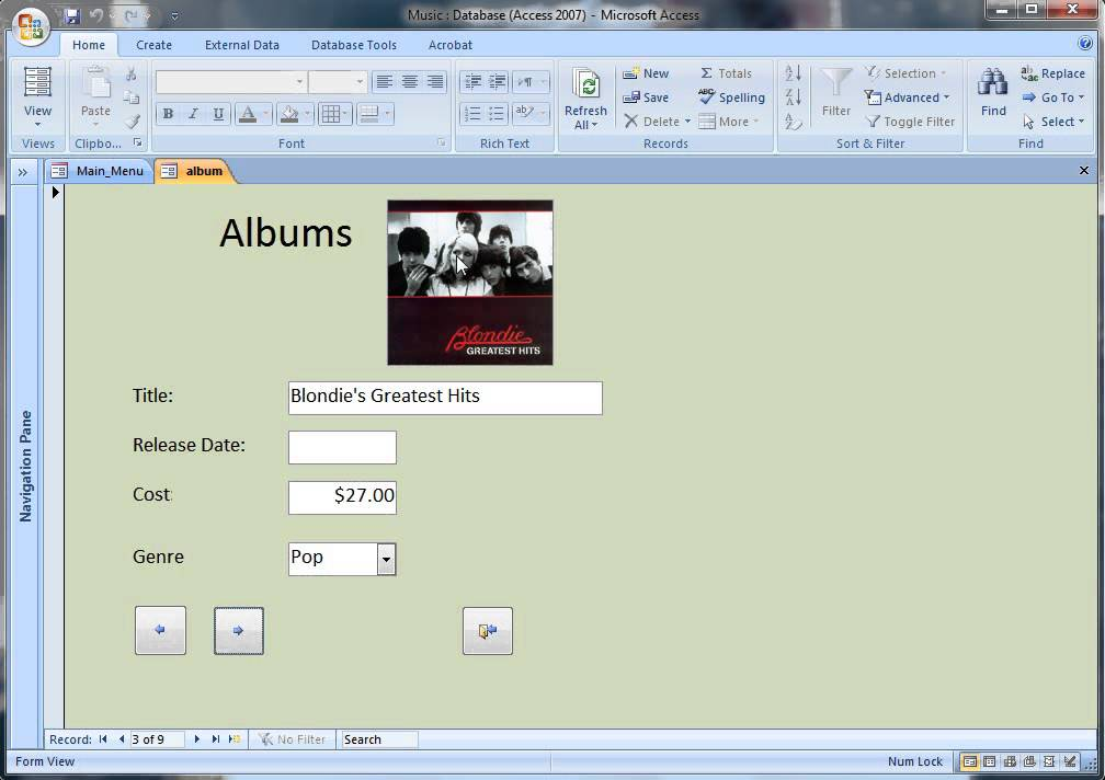Music Database Software - Keep track of your music collection