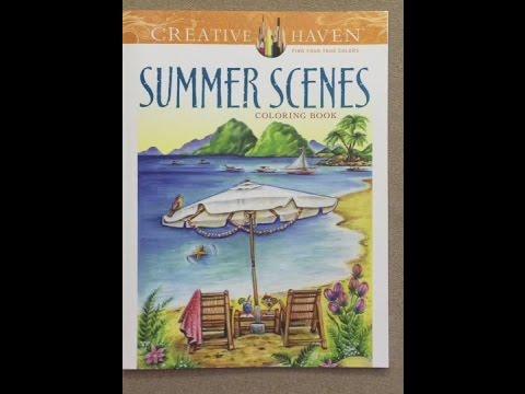 Creative Haven Summer Scenes Coloring Book Flip Through