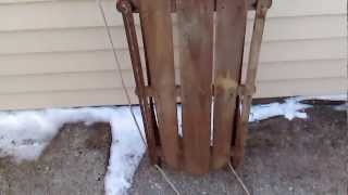 Unknown Vintage Wooden Sled! For Sale!