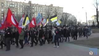 Фашисты Лимонова на митинге в Москве