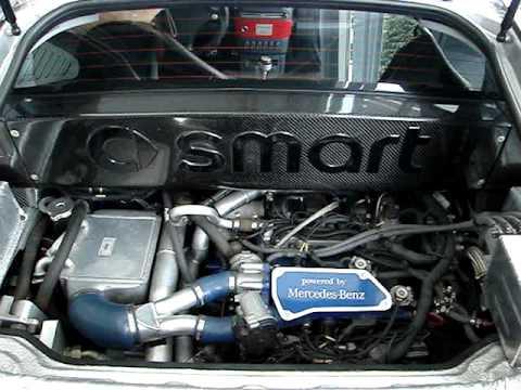 smart Brabus roadster V6 Biturbo engine - YouTube