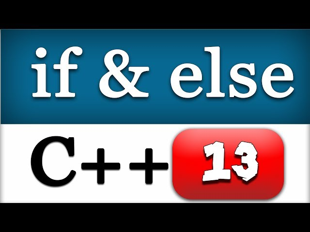 13   C   Video Tutorials for Beginners    CPP IF ELSE    Conditional Statement - YouTube