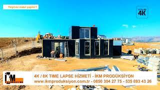 Yeşil ev (Eko - House)  nasıl yapılır? - 4K time lapse - İKM Prodüksiyon