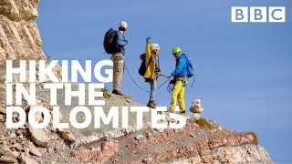 Could you climb this terrifying Dolomite mountain face? - BBC