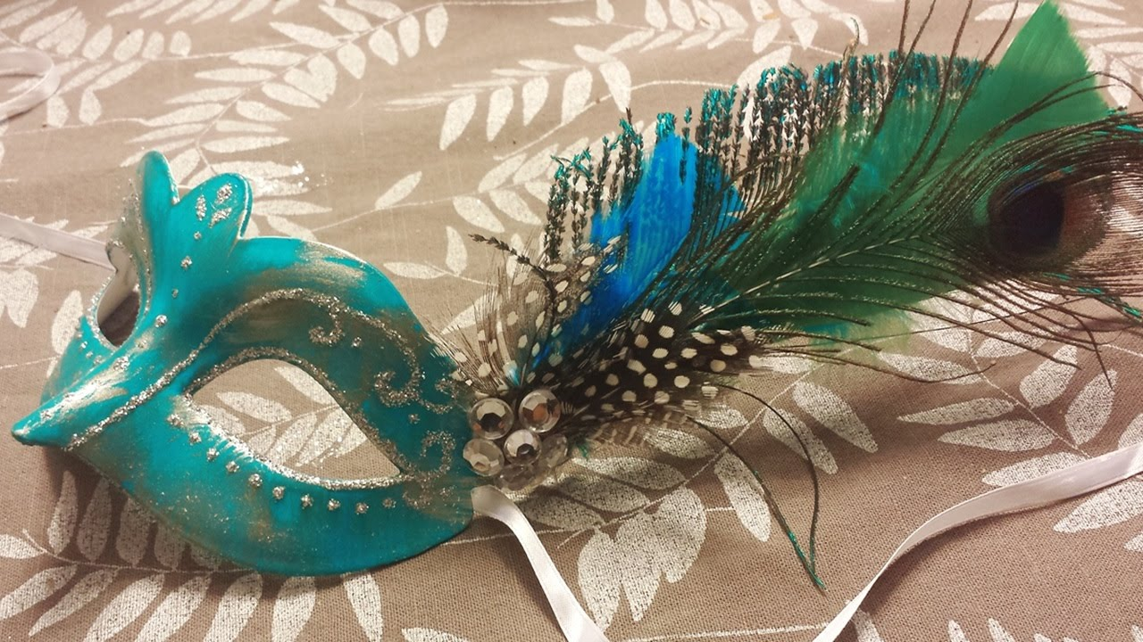 diy masquerade mask for prom youtube