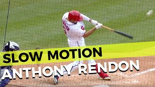 Anthony Rendon Slow Motion Hitting Mechanics Home Run Baseball Swing