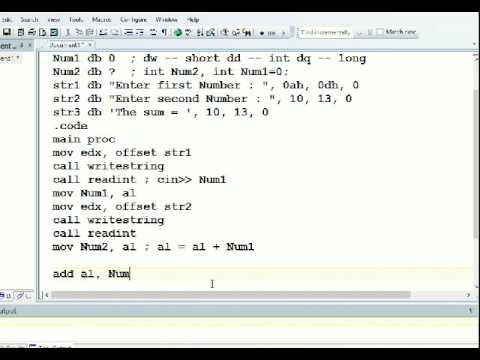 MASM Programming Tutorial User Input Lec17