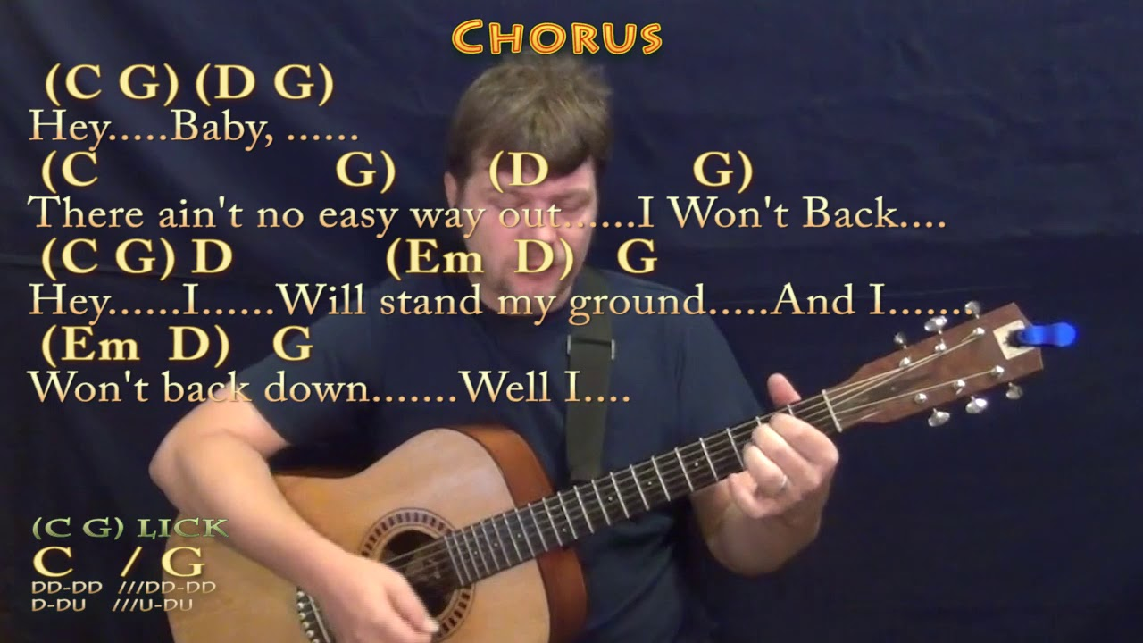 Wont back down tom petty guitar cover with chordslyrics youtube wont back down tom petty guitar cover with chordslyrics hexwebz Image collections