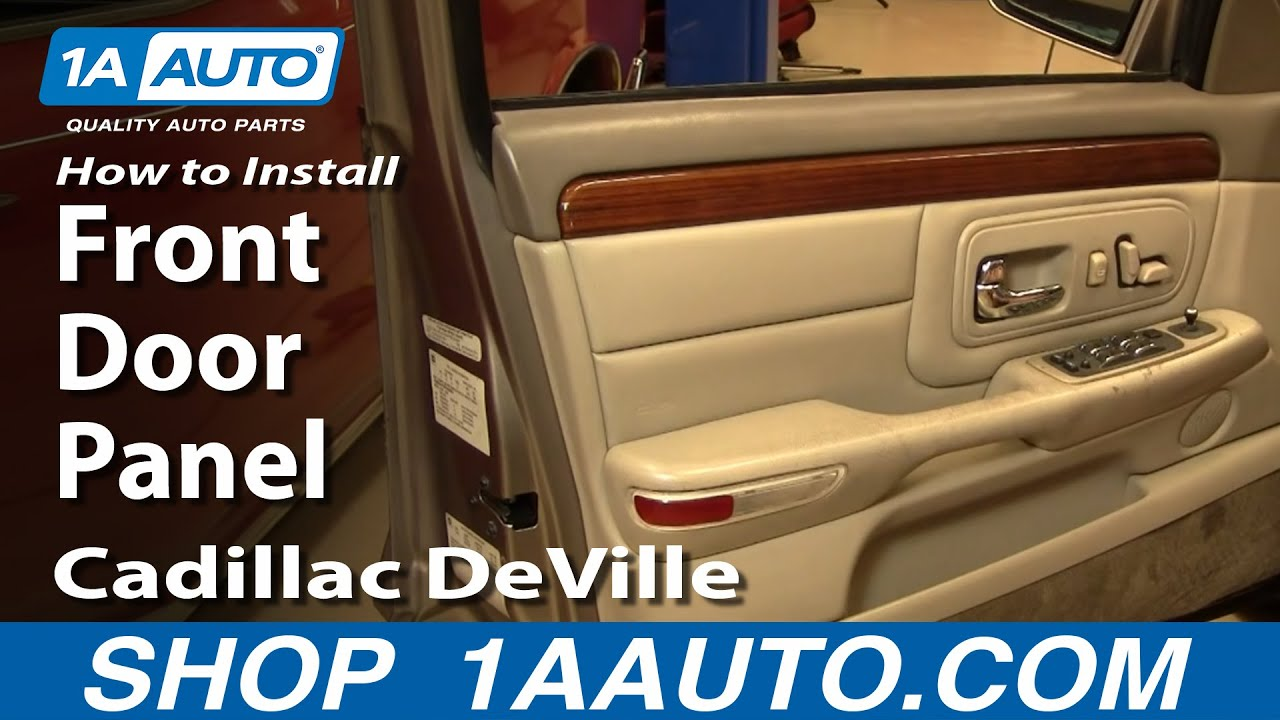 How To Install Replace Front Door Panel Cadillac DeVille 9799