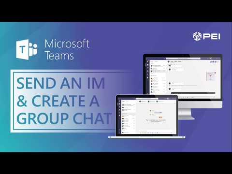 Microsoft Teams | PEI - How To Send A Chat Or Start A Group Chat