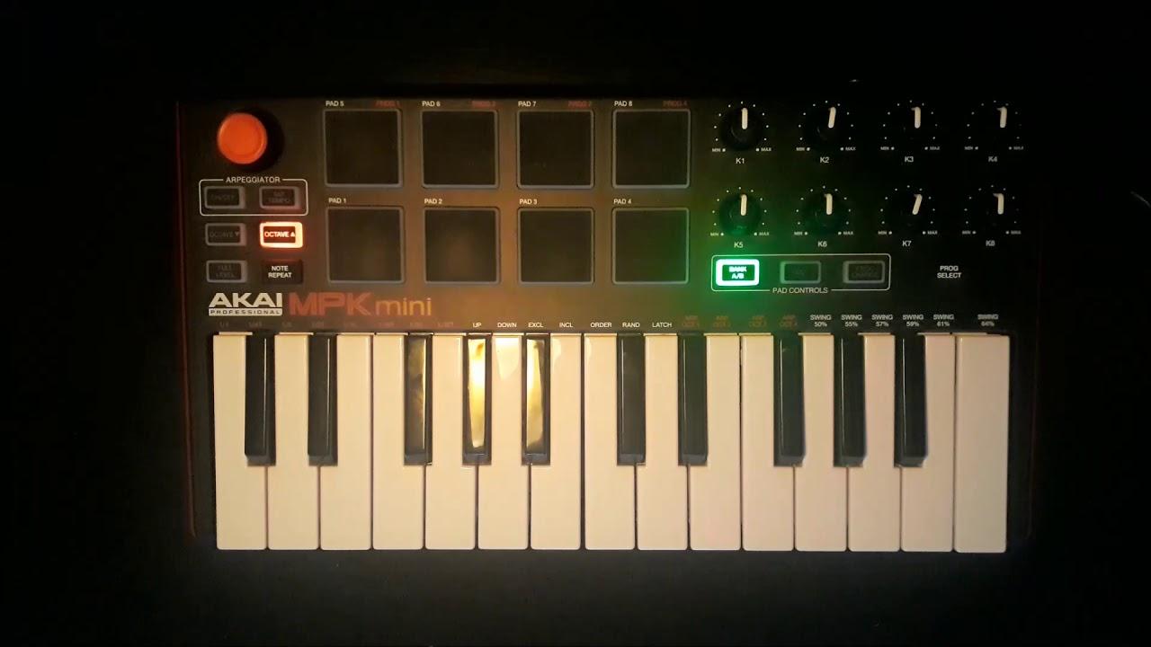 Akai mpk mini - Live looping with FL Studio #2