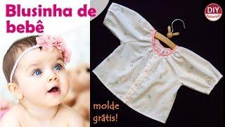 Blusinha de bebê com manga raglan – moldes grátis (DIY Tutorial)