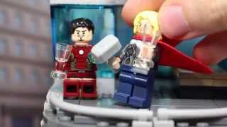 Ultron Attacks The Lego Avengers Tower! Avengers Age Of Ultron Parody