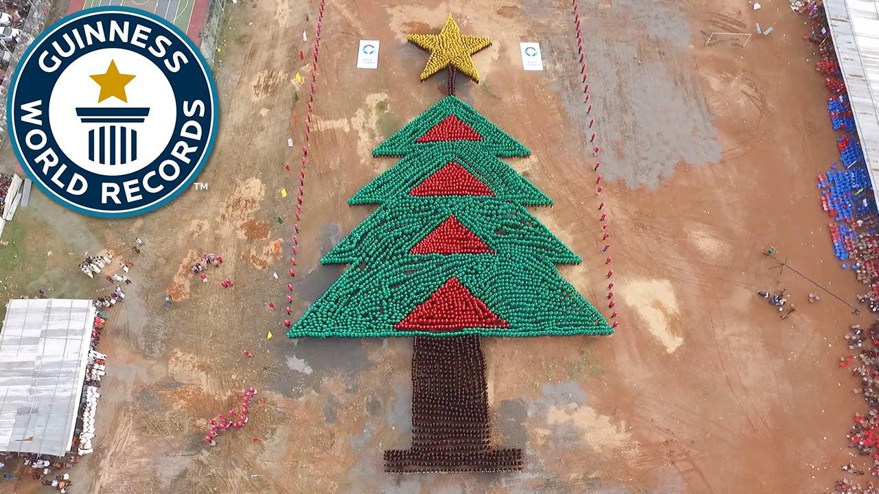 largest human christmas tree guinness world records - Worlds Largest Christmas Tree