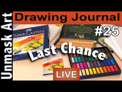 """""""10k Giveaway LAST CHANCE"""" Drawing Journal LIVE #25"""