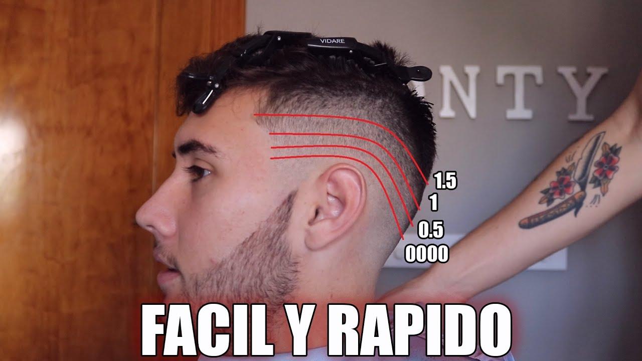 Tutorial de corte de cabello de hombre
