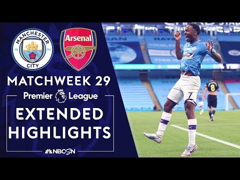 Manchester City v. Arsenal   PREMIER LEAGUE HIGHLIGHTS   6/17/2020   NBC Sports