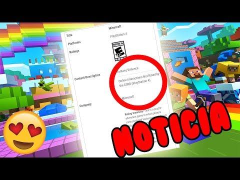 😱NOTICIÓN!!! MINECRAFT CROSSPLAY EN PS4!!!!!!!!!😱