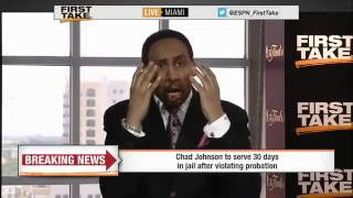 Chad Johnson Gone To Jail For 30 Days!       ESPN First Take