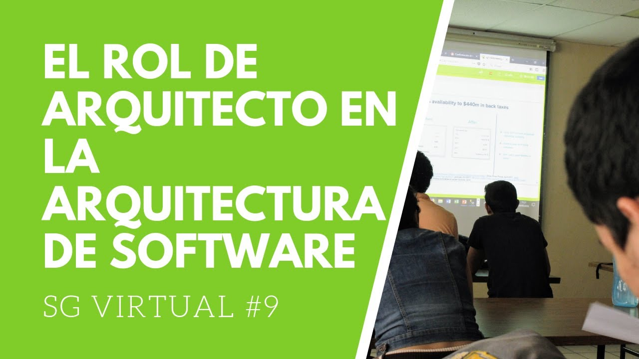 El rol de arquitecto en la arquitectura de software youtube for Especializacion arquitectura de software