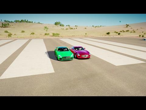 2017 Mercedes-AMG GTR vs Mercedes-Benz SLS AMG - DRAG RACE! Forza Horizon 3