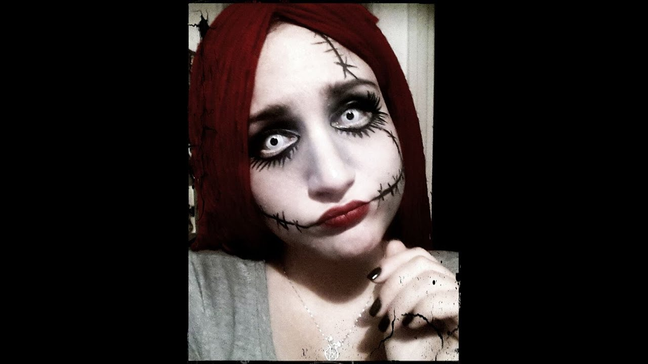 Nightmare Before Christmas Sally Makeup, Sally Makeup Tutorial ...